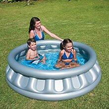 Große Schwimmbad Kinder Platz Schiff aufblasbar Kinder Planschbecken freie Hand Pumpe