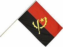 Große Stockflagge / Stockfahne Angola + gratis