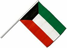 Große Stockflagge / Stockfahne Kuwait + gratis