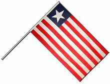 Große Stockflagge / Stockfahne Liberia + gratis