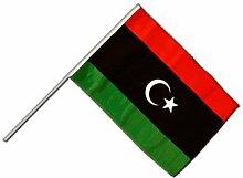 Große Stockflagge / Stockfahne Libyen + gratis