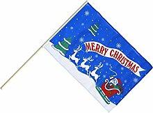 Große Stockflagge / Stockfahne Merry Christmas