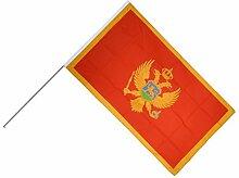 Große Stockflagge / Stockfahne Montenegro +