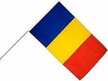 Große Stockflagge / Stockfahne Rumänien + gratis