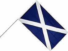 Große Stockflagge / Stockfahne Schottland +