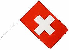 Große Stockflagge / Stockfahne Schweiz + gratis