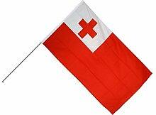 Große Stockflagge / Stockfahne Tonga + gratis