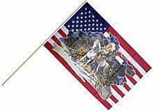 Große Stockflagge / Stockfahne USA mit