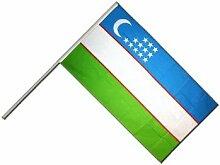 Große Stockflagge / Stockfahne Usbekistan +