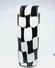 Große Vase aus Glas von Murano mit Karten weiß