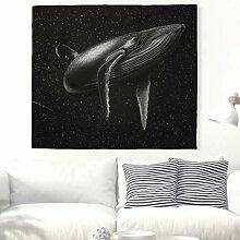 Große Wal im Weltraum Wandteppich Indische