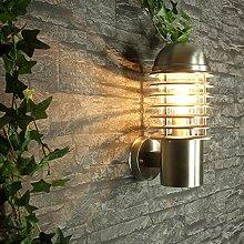 Große Wandlampe außen Edelstahl BRISTOL H:33cm