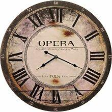Grosse Wanduhr Shabby Chic Paris Opera Durchmesser