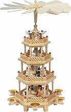 Große Weihnachts-Pyramide 4 Motive in 4 Etagen,