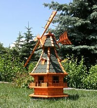 Große Windmühle mit Solar 1,30 m grün Typ 6.1
