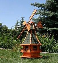 Große Windmühle mit Solar 1,30 m grün Typ 6
