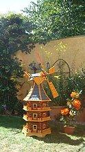Große Windmühle, wetterfest,robust mit Bitumen,