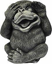 großer Affe - massiv - nichts sehen - Glücksbringer - Skulptur