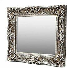 Grosser Antik Wandspiegel Silber 75x85 -