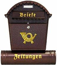 Großer Briefkästen XXL Zeitungsrolle Briefkasten