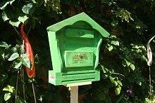 Großer Briefkasten HBK-SD-GRASGRÜN aus Holz No-1