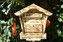 Großer Briefkasten, Holzbriefkasten mit Holz -