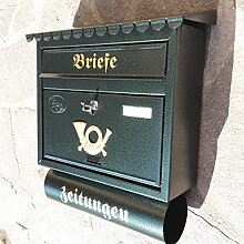 Großer Briefkasten / Postkasten XXL Din A4 Grün