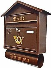 Großer Briefkasten / Postkasten XXL Farbe: Kupfer