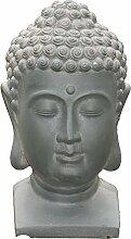 Großer Buddha Kopf, Garten Büste, Gartenfigur für Asiatische Gärten