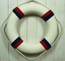 Großer Deko Rettungsring 50cm blau/rot/weiß für die maritime Dekoration