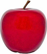 Großer Dekoapfel - Rot - Glänzend - 29 x 25,5 cm - Küchendeko - Apfel - Gartendeko