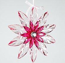 Großer Dekohänger ~ Blume klar pink Ø 24 ~
