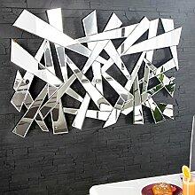 Großer Design Wandspiegel SPLIT 120 cm dreieckige
