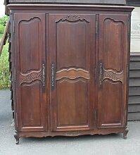 Großer Eiche Kleiderschrank mit 3 Türen, 1930er