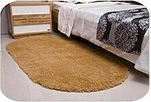 Großer Faux-Pelz-Teppich, weiche Ovals