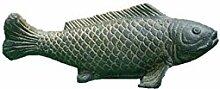 Großer Fisch, Tierfigur aus Steinguss, Koi, Karpfen, Gartendeko, Teichdekoration Frostfes