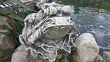 Großer Frosch, Kröte mit jungen Fröschen auf dem Rücken Feng Shui 20 kg schwer