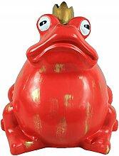 Großer Froschkönig XL in weichnachtlichem ROT # wetterfest # Gartendeko # Weihnachten