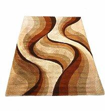 Großer hochfloriger Teppich in psychedelischer