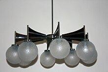 Großer Kronleuchter mit Acht Leuchten, 1960er