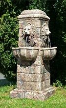 Großer Löwenkopf Gartenbrunnen mit LEDs