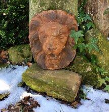 Großer Löwenkopf, Stein, Rost-Optik, Löwe,