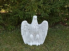 Großer massiver Stein - Adler Gartendeko Raumdeko aus Steinguss frostfes