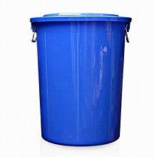 Großer Outdoor Müll Rander Plastik Mülleimer Wasser Eimer 40L 60L Farbe Weiß Blau , Blue , M