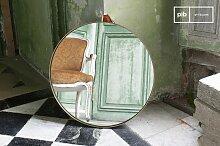 Großer runder Spiegel Goldstein