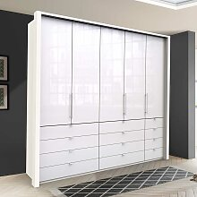 Großer Schlafzimmerschrank in Weiß Glas