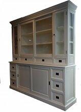 Großer Shabby Chic Landhaus Stil Schrank mit 4 Türen und 10 Schubladen - Buffetschrank - Schrank Esszimmer