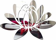 Großer Wandspiegel Acryl Decor Wasser Lily 35 x