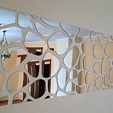 Großer Wandspiegel Acryl Dekoration Rocks 140x 70cm