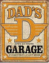 Großes Auto Automarke Dad 's Garage Vintage Retro Metall Blech Schild 1894